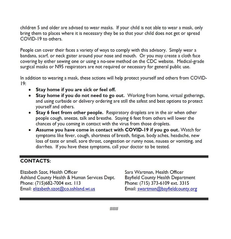 July 13, 2020 County Public Notice Page 2