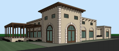 Main Entrance View of Proposed Restaurant